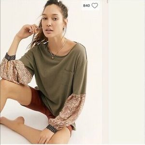 NWT Free People Jade Balloon Sleeve Top